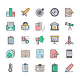 Utbildningsvektorsymboler 5 Arkivfoton