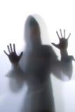 utbredd silhouettekvinna Arkivfoton