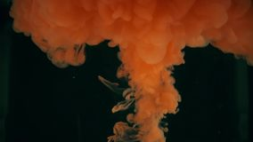 Utbrott av orange flytande Vetenskap släkt skott lager videofilmer