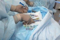 Utbytbar kirurgisk metod för kristallisk lins Royaltyfri Bild