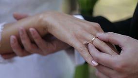 utbyte av att gifta sig för cirklar stock video