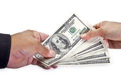 utbyte av pengar Arkivfoto
