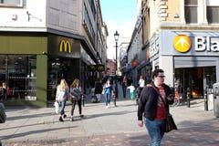 Utbytet går, Nottingham Fotografering för Bildbyråer