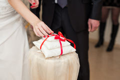 utbytet ringer bröllop Arkivbilder