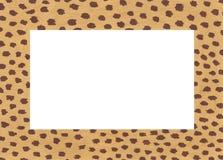Utdragen akrylram f?r hand med gepardfl?ckar stock illustrationer