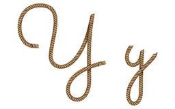 Utdragen bokstav Y för rephand stock illustrationer