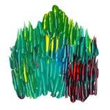 Utdragen grov texturerad borstebakgrund för hand vektor illustrationer