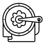 Utdragen symbol för hemslöjdhand royaltyfri illustrationer