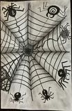 Utdragen Zentangle för olika spindlar typ stock illustrationer