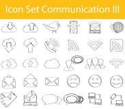 Utdraget klotter fodrad symbolsuppsättningkommunikation III royaltyfri illustrationer