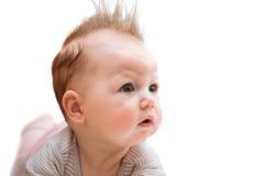 Сute baby on white Stock Photos
