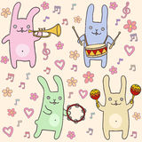 Сute bunnies seamless pattern Royalty Free Stock Photography