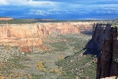 Ute Canyon en Colorado nanómetro imagenes de archivo