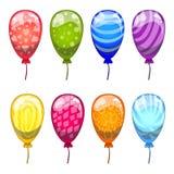 Сute cartoon   balloons set. Cartoon illustration Royalty Free Stock Images