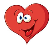 Сute cartoon joyful heart Stock Photos