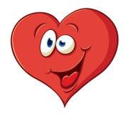 Сute cartoon joyful heart Stock Photos