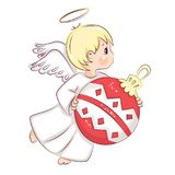 Сute Christmas Angel. Royalty Free Stock Photos