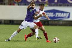 UTE contro Partita di calcio della lega della Banca di DVSC OTP Fotografia Stock Libera da Diritti