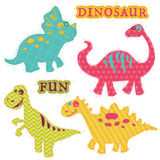Сute Dinosaur Set Stock Photos
