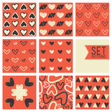 Сute heart vector pattern background Royalty Free Stock Photos