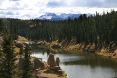 Ute lake by Pike's Peak Royalty Free Stock Image