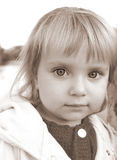 �ute little caucasian girl Royalty Free Stock Photo