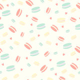Сute pattern with almond biscuits French Royalty Free Stock Photos