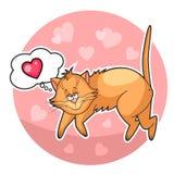 Cute valentine cat Stock Photo