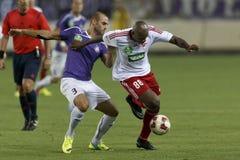 UTE vs. DVSC OTP Bank League football match Stock Image