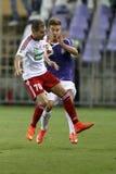 UTE vs För bankliga för DVSC OTP fotbollsmatch Fotografering för Bildbyråer