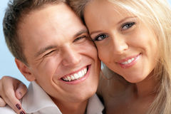 Сute young loving couple embracing Stock Image