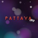 Uteliv för Pattaya teckenlogo Arkivfoton