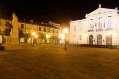 Uteliv i den huvudsakliga fyrkanten av Palencia Fotografering för Bildbyråer
