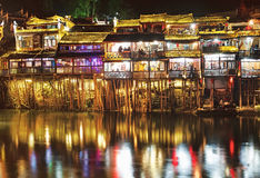 Uteliv i Fenghuang Royaltyfri Fotografi