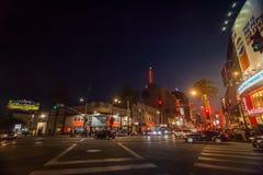 Uteliv i Hollywood royaltyfri bild