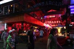 Uteliv i Pattaya, Thailand. Royaltyfri Bild