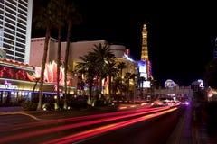 Uteliv längs den Las Vegas remsan Arkivfoto