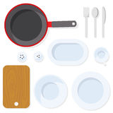 Utensílio da cozinha tableware ilustração royalty free