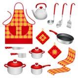 Utensílios da cozinha Fotos de Stock Royalty Free
