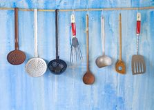 Utensílios da cozinha do vintage, fotos de stock