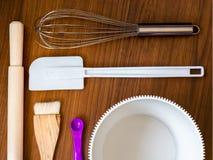 Utensílios da cozinha para cozinhar Imagens de Stock Royalty Free