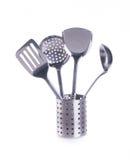Utensílios da cozinha. utensilson da cozinha em um fundo Fotos de Stock Royalty Free