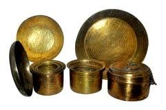 Utensílios de bronze fotos de stock