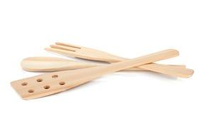 Utensílios de cozimento de madeira foto de stock royalty free