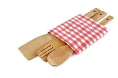 Utensílios de cozimento de madeira Imagem de Stock Royalty Free