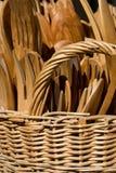 Utensílios de madeira Fotografia de Stock Royalty Free