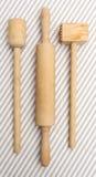 Utensílios de madeira da cozinha Imagem de Stock