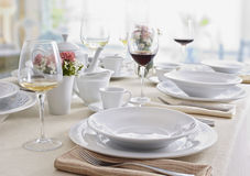 Utensílios de mesa cerâmicos Imagem de Stock