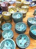 Utensílios de mesa coloridos de Marrocos Imagem de Stock