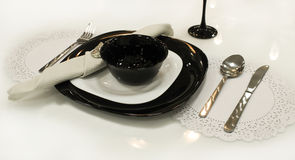 Utensílios de mesa da cutelaria Foto de Stock